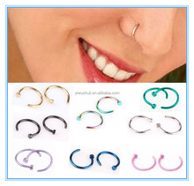 Fashion stainless steel C shape nose rings body piercing jewelry