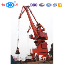 high quality heavy duty mobile rail mounted harbour portal crane