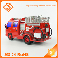 Novelty educational safety plastic mini fire car kids toys car