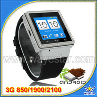 MTK6577 3G Single SIM Android Smart Watch Phone with 1.54'' Capacitive Touch Screen
