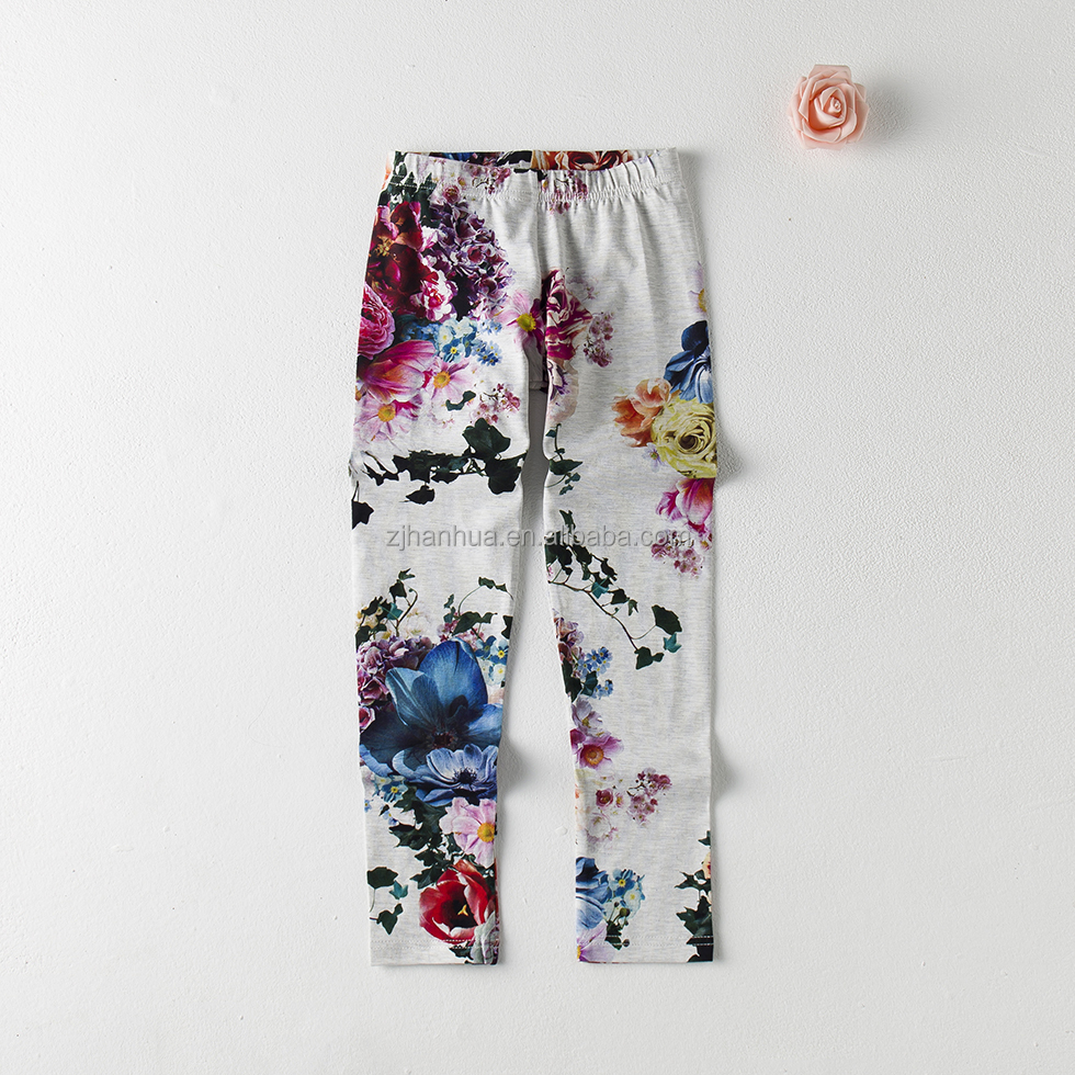 girls tight pants with all over printing, with WRAP and BSCI certificate