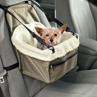 Pet Booster Seat - Folding Dog Cat Car Seat Pet Carrier Booster Bag Puppy Safety