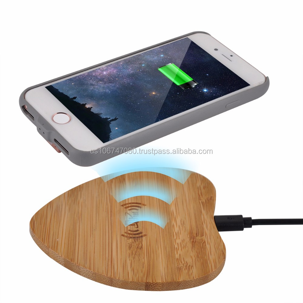 5000mah External Backup Battery Qi wireless Charger Power Case for iphone 7 plus/6 plus