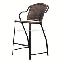 Top selling factory directly rattan orangial color counter stool