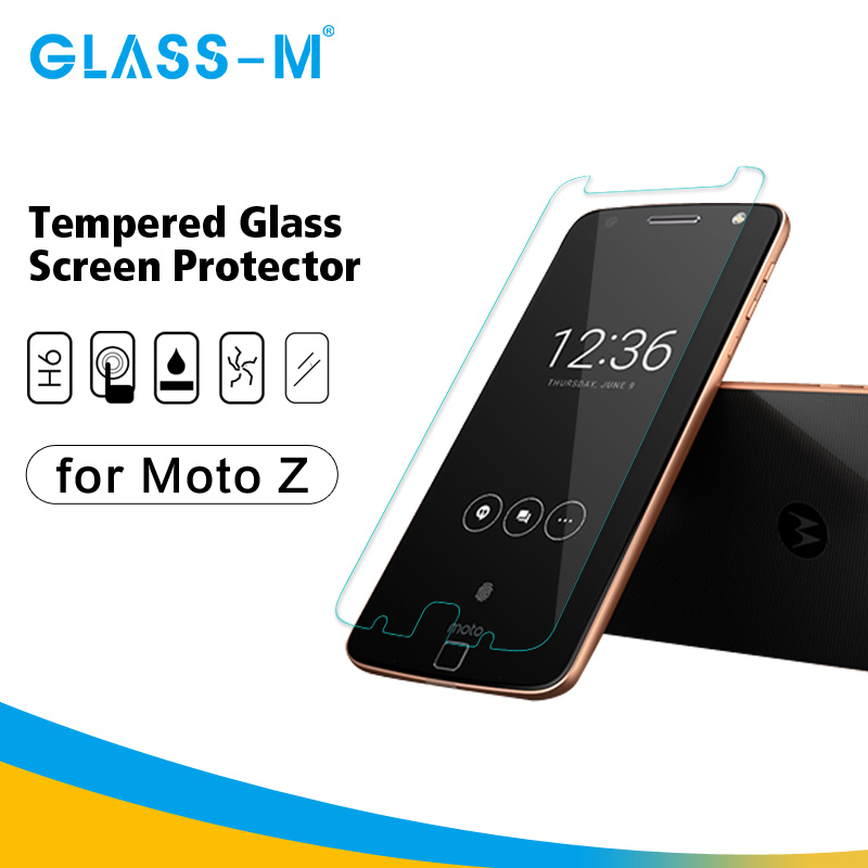 9H Anti Scratch Tempered Glass Cell Phone Screen Cover for Moto Z