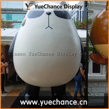 Garden Display Cute Fiberglass Fat Panda