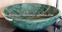 natural green marble wash basin round sinks