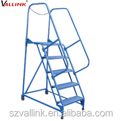 Climb Frame , Rolling Portable Stairs With Safety Rail