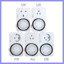 24 Hour Programmable Switch Plug Power Mechanical Electrical Program Timer