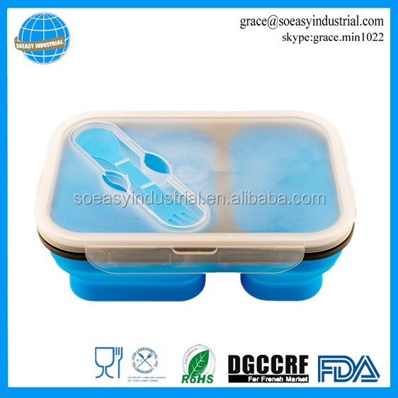 Large 2 component silicone pack away lunch box