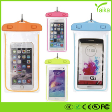 Hot new products waterproof cell phone cases, mobile phone PVC waterproof bag for promotional gift