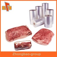 Packaging material china vendor accepted custom order OEM PET plastic food grade clear heat shrink plastic film for meat packing