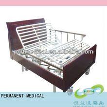 Wooden nursing home furniture three crank electric nursing bed