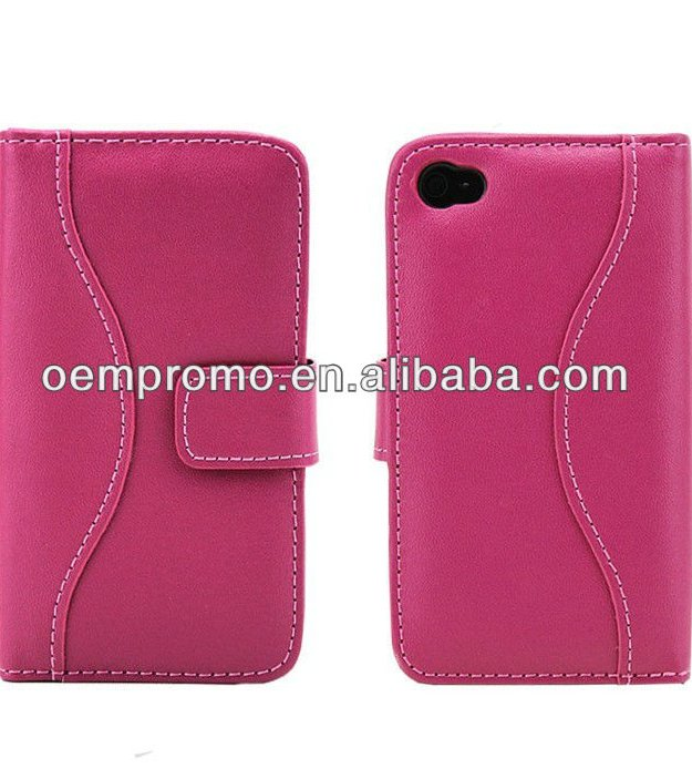 2016 Fashion Pink Leather case for iPhone 4s,6, 6plus, 6s