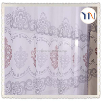 100% polyester printed voile thermal window cloth window curtain fabric