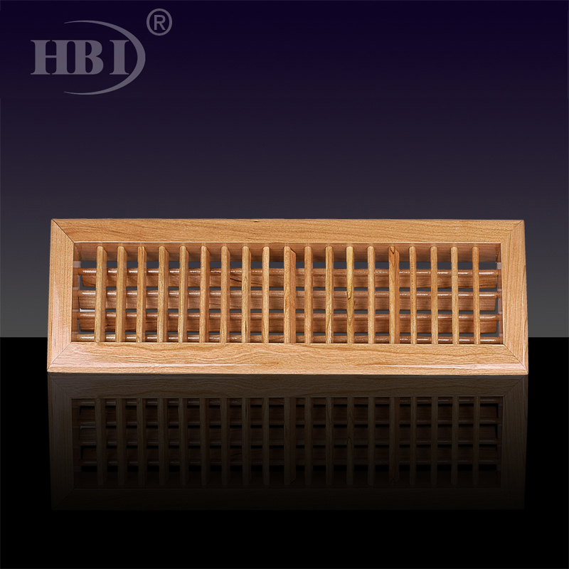 2WG Wooden Full-deflection Grille Wooden Return Air Grille Floor Air Vent