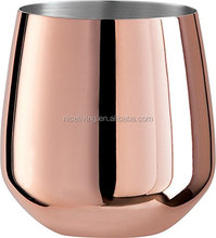 Copper Plated Stemless Wine Glasses