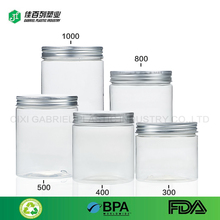 High quality 850ml PET Food Grade clear plastic sweet jars