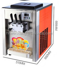 small soft ice cream machine/table top batch freezer/gelato ice cream machine