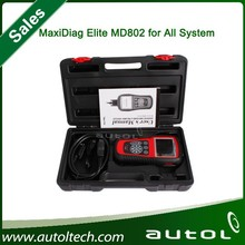 Autel MaxiDiag Elite MD802 MD 802 Scan Tool For All System+DS model+Engine+Transmission+ABS Airbag+EPB+OIL Service Reset