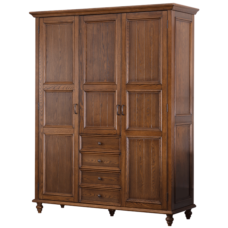 American <strong>style</strong> solid wood bedroom wall wardrobe <strong>design</strong>
