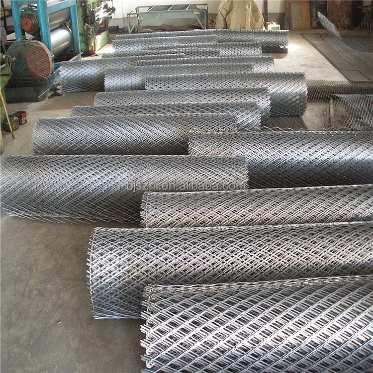 Galvanized or PVC steel expanded mesh metal lath & mesh plate