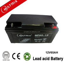 smf 12v65ah best price battery for solar charger