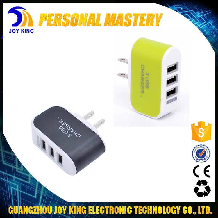 No agent Manufacturer direct selling Cell Phone Power Adapter 3 with LED Charging Display 3 USB Port for iphone charger