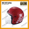 Red Yellow Motorcycle Helmet Open Face Helmet