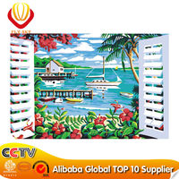 2014 DIY ocean oil paintings by number for wall decoration and gift(40*50cm)