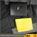 PVC zippered ID card holder ID wallet with clip PVC Pockets Leather Smart Travel Card Holder Wallet With Ziplock Bag