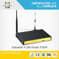 Quad band wifi hotspot Router with sim card slot & 4LAN ports support 3g network & TCP/IP F3434 for car/bus wifi application