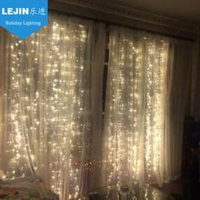 Waterproof Connectable Led Curtain Lights 2x5m 1000leds Christmas Decoration Curtain Light For Wedding Party