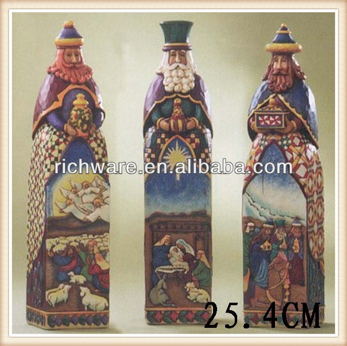 Unique design resin religious three kings statues decoration