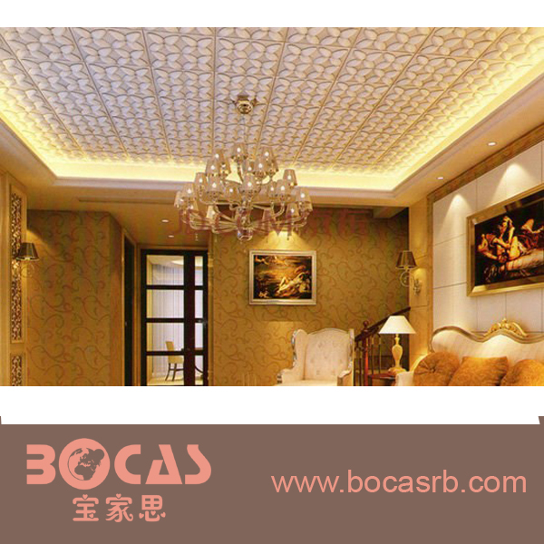 PVC Suspended 3D leather Wall Panel Ceiling