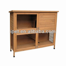 Wooden 2 story rabbit hutches with ramp RH010