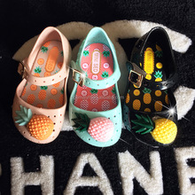 Summer Kids Girl Toddler Cartoon pineapple children pvc jelly sandals shoes