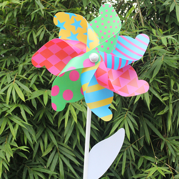 Widely use custom plastic 7 blade windmill toy for children