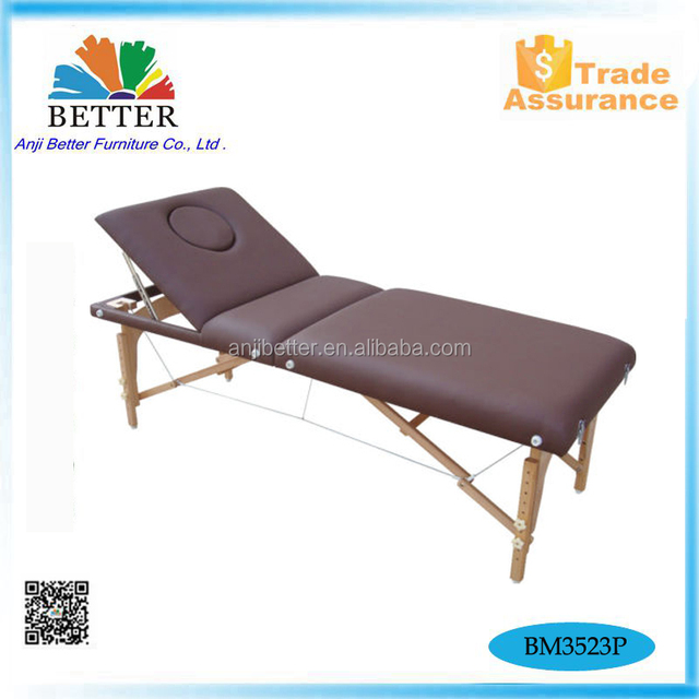 portable japanese wooden massage table Memory foam