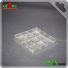 PET Clear 9 compartments plastic tray with ISO Certificate,Clear plastic compartment packaging tray