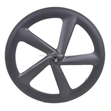 Bicycle wheel rims Toray T700 Carbon 700C Width23mm Height66mm Clincher Carbon 5 Spokes Wheel Rim