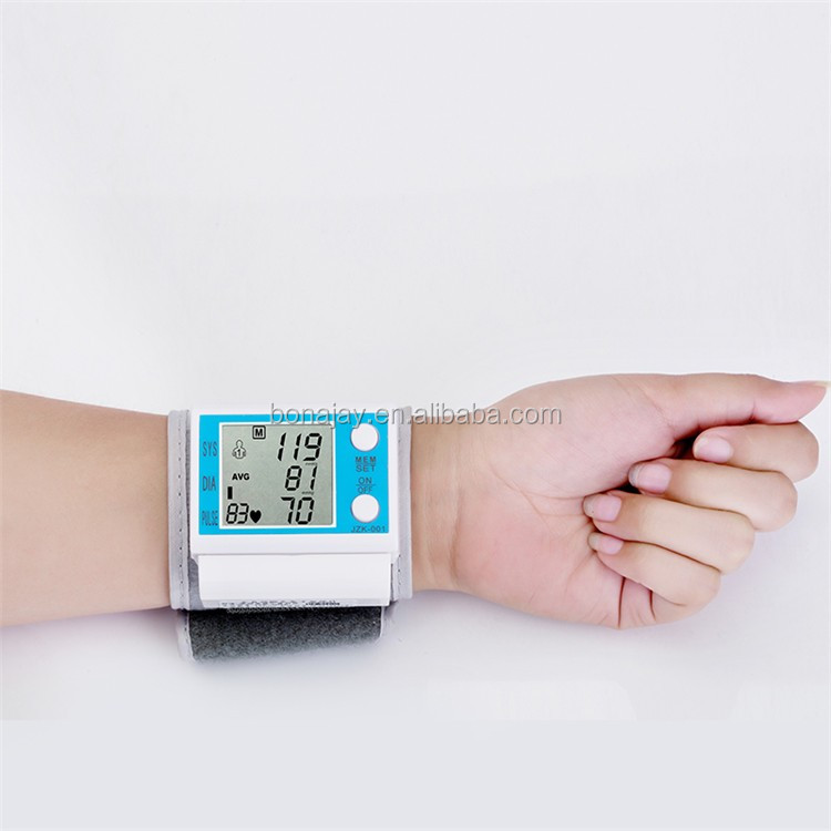 Blood Pressure Monitor Nonvoice Digital Fully Automatic Electronic Wrist Monitors