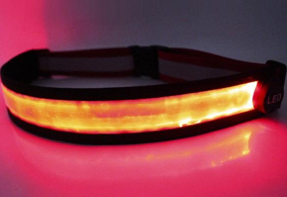 Produits chauds ceinture élastique réfléchissante universelle à LED pour les sports de plein air
