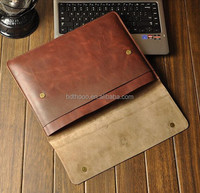 promotion leather laptop sleeve for ultrabook men's bags, for lenovo computer leather tablet bag