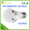 shenzhen factory price high quality smd 5730 e27 3w dc 12v led bulb light housing ,3w led bulb lighting