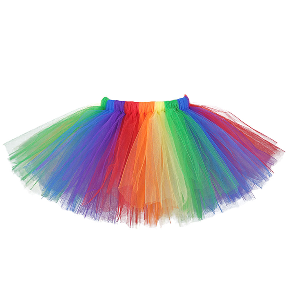 Lovely Rainbow Baby girl ball gown party sewn tutu skirt little kids puffy skirts