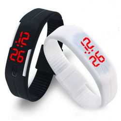 Fashion LED Electronic Wristbands Wholesale Outdoor Sport Jelly Swatch for Men Women