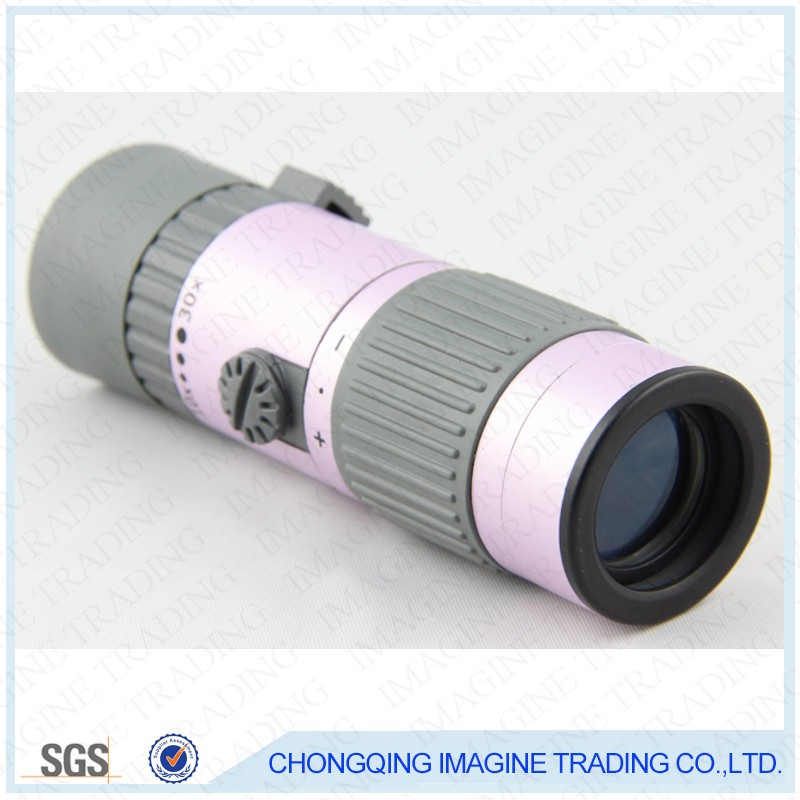 IMAGINE HM13 Compact Monocular telescope Pink&Black for spotting, sightseeing, bird watching