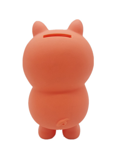 manufacturers direct original best sell plastic pig shape with a soft and wocie nose orange money collection piggy bank for kids