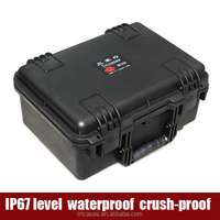 China supplier tough waterproof shockproof hard plastic military police weapon case